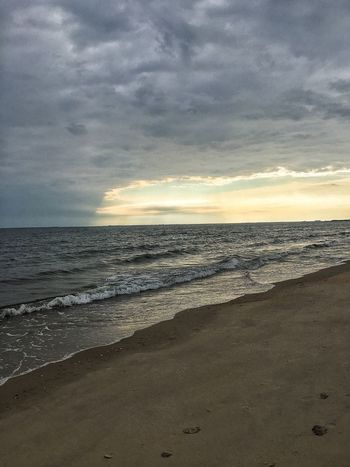Morning Beach Walk Cloud - Sky Beach Sky Land Water Sea Beauty In Nature Scenics - Nature Horizon Horizon Over Water Tranquility Tranquil Scene Sand Sunset Nature Motion Wave Idyllic No People Outdoors