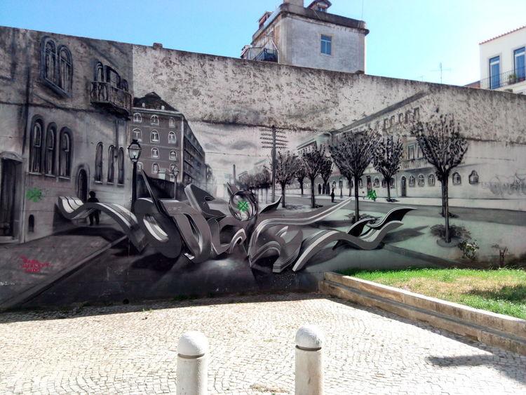 Street Art Building Exterior Lisbon - Portugal Travel Destinations Architecture City Lisbon Vacations Tourism Graffiti Graffiti Art