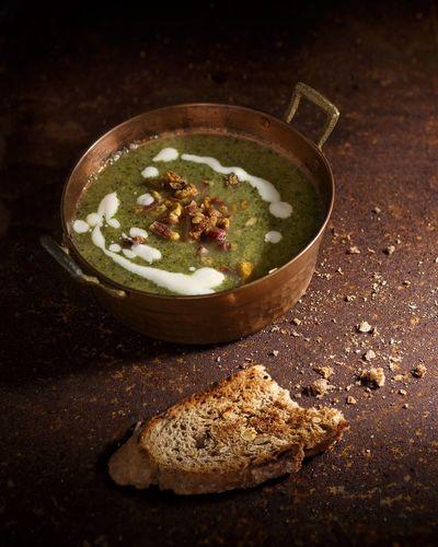 broccoli soup Moody Foodphotography Soup Healthy Eating Rustic Rust Broccoli Soup Vegetarian Food Diet Green Cooking Food Healthy Brown Dark