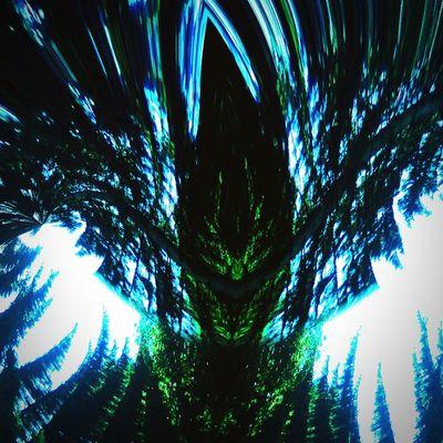 Å førêst spirït Forest Mountain Mobileartistry Tinyfx Pinetrees Pareidolia Energy