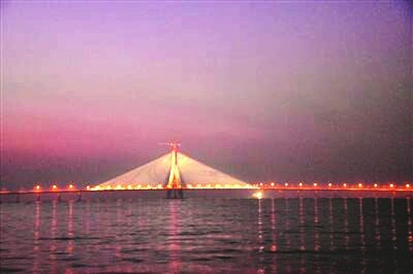 Cityscapes Relaxing Mumbai_in_clicks Bandra Worli Sea Link Night View Hanging Out Bandra Bandstand at Bandraworlisealink, Mumbai
