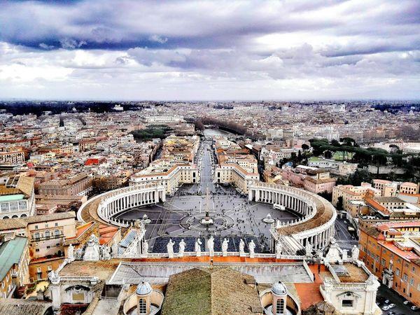 Vatican Roof Vatikan Top Perspective Vatican Panorama Rome Italy