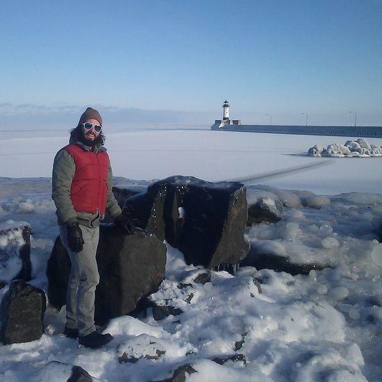 Tip of the iceberg. Belowzero Lighthouse
