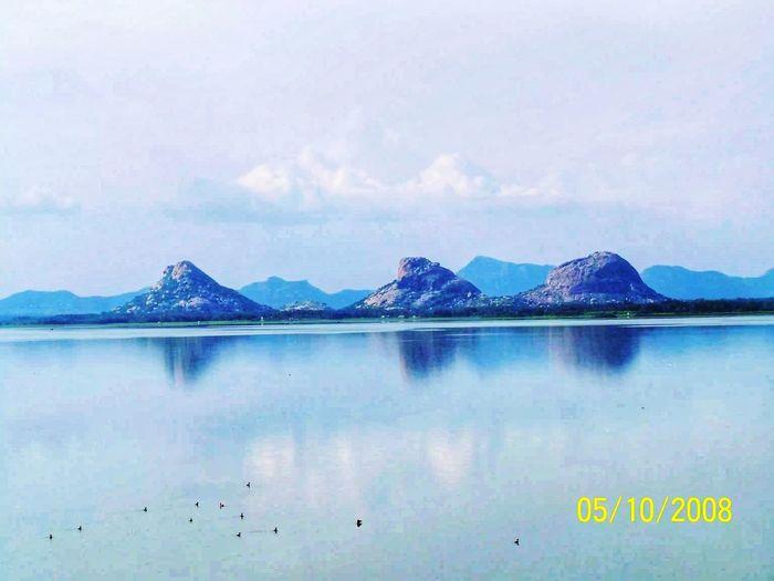 Dam water Water Mountain Flamingo Reflection Sky Mountain Range Landscape Cloud - Sky