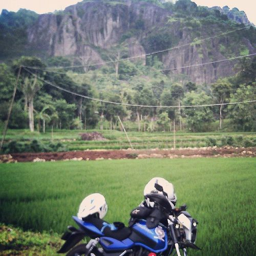 BLUE GREEN Oyikk Jogjakarta Gunungapipurba INDONESIA motorbike instagood instadaily