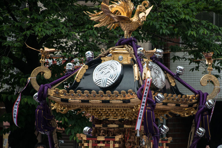 Gold Portable Shrine Shitayajinnjya お神輿 下谷神社大祭 祭 祭り(festival) In Japan 鳳凰