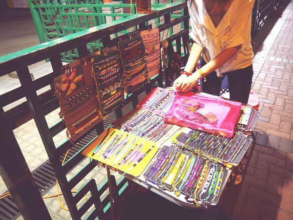 HongKong 庙街 香港 手链小摊