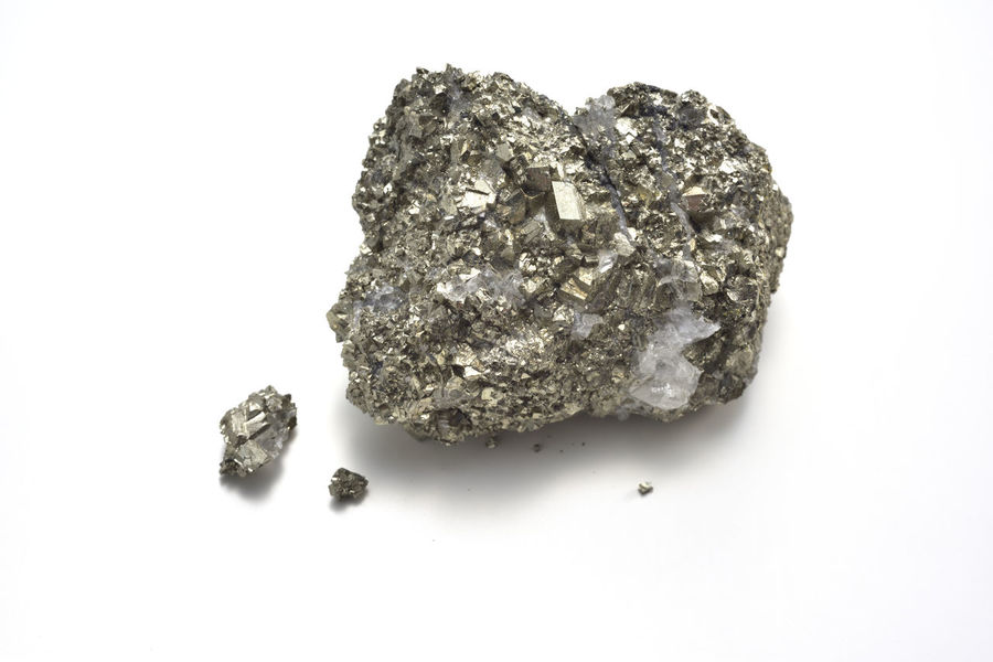 Close-up Hard Industry Industry Iron Ore Loose Materials Metal Microorganism Mineral Mineral Photography Mining No People Ore Precious Gem Produce Quality Silver  Texture Trace Value White Background