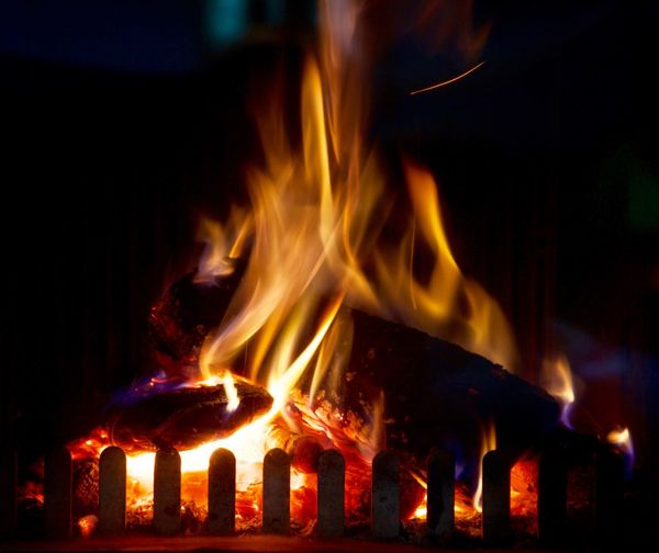 Night Fire Burning No People Flame Architecture Fire - Natural Phenomenon Heat - Temperature Orange Color Fireplace