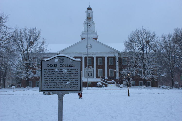 Tennessee Tech Bare Tree Cold Cold Temperature College College Campus Day Dixie College Freezing Information Sign Institution No People Season  Snow Snow Day Snowing Snowmageddon Snowy Days... Tennessee Tech Univ Tennessee Tech University Tree TTU Weather White White Color Winter