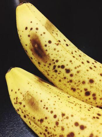 Bananas Fruit Banana Black Background Food Food And Drink Healthy Eating Studio Shot Freshness Close-up Yellow No People Banana Peel Seed
