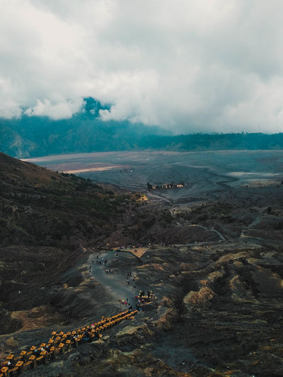 Beautiful view from the top of bromo mountain