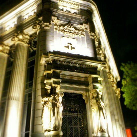 The Entrance of Rio de la Plata Bank on calle de alcalá madrid spain