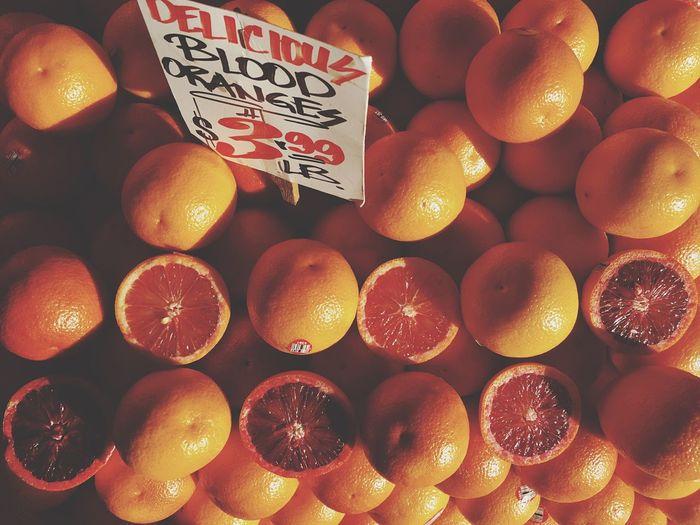 Full frame shot of blood oranges