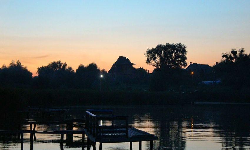 Sunset Evening Lake Ukraine Water Beautiful Photo Canon