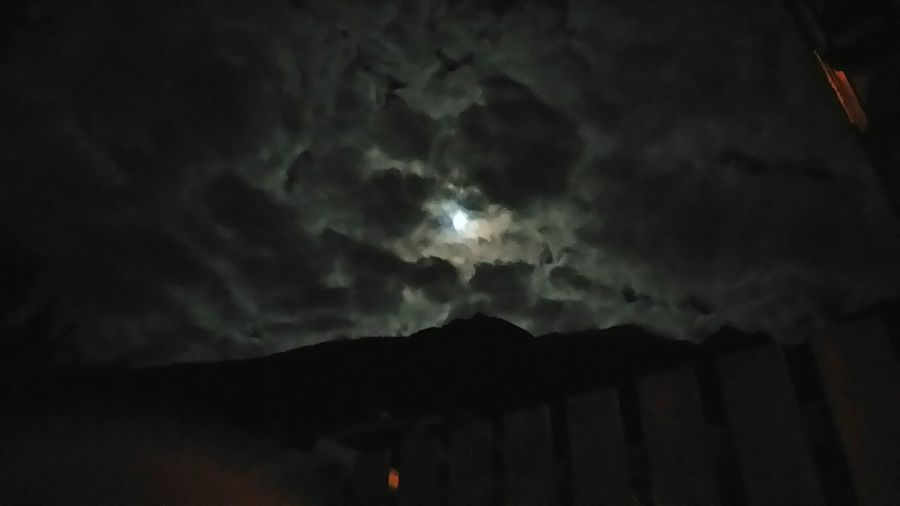 Aroundtheworld Lovefotography Picturing Individuality Tirol  Berge Naturelovers Mountains EyeEm Nature Lover Ohnefilter Stubai Stubaital Clouds And Sky Moon Moonlight Christmastime 24.12 Moonshine Darknight Geisterhaft