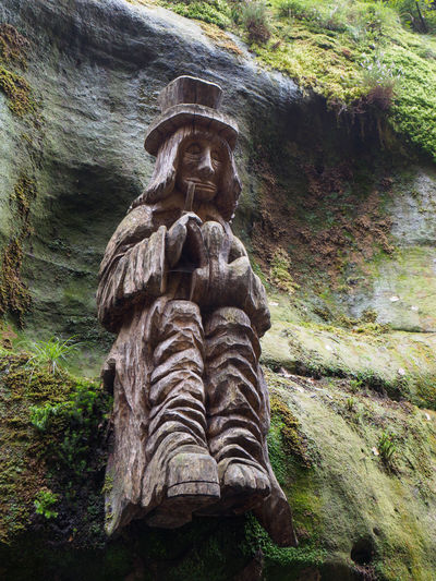 Statues Along the Gorges in Hrensko Art And Craft Sculpture Representation Solid No People Day Statue Nature Plant Outdoors Gorge