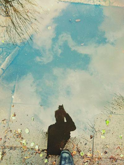 Puddle autoportrait Puddleography Autoportrait Selfie