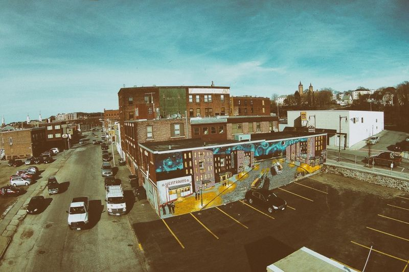Weintraubs Mural Dronephotography Worcester Ma Urban Art Photography Pure Greatness AV8R Photography