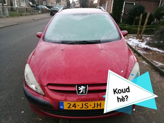 Koud Koud Hè? Car Text Mode Of Transport Outdoors No People Day Close-up