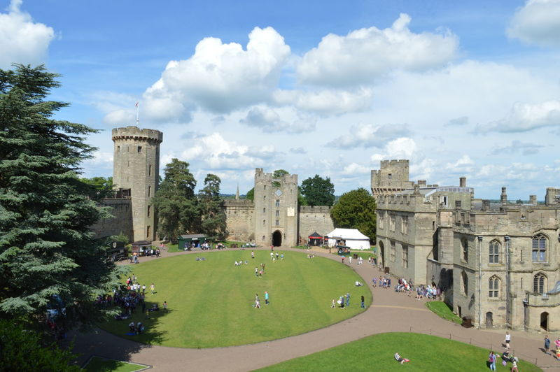 A different perspective, raw and unedited. Warwick Warwick Castle England Blue Sky Historic Castle War Of The Roses Warwick Castle Water Water Wheel