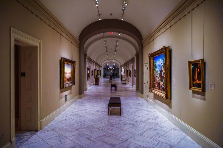 Corridor in museum