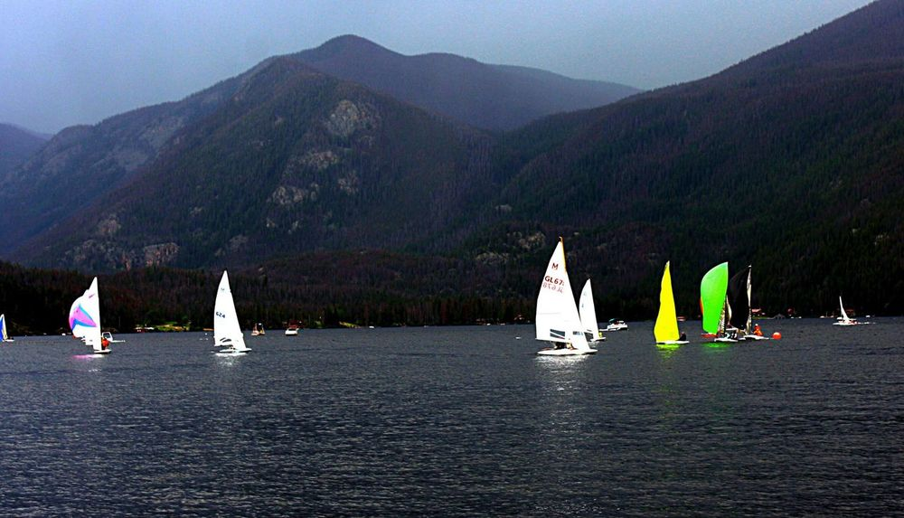 Boats sailboats lake wildlife grand lake Sailboat Mountain Water Sky Outdoors