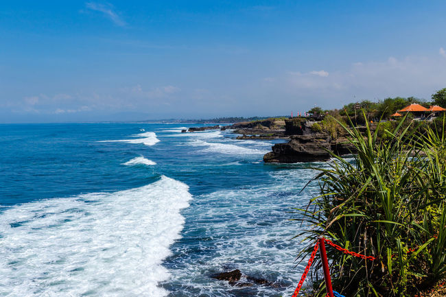 Bali Beach Beauty In Nature Blue Day Horizon Over Water Motion Nature No People Outdoors Rock - Object Scenics Sea Sea And Sky Sky Tranquil Scene Tranquility Travel Destinations Water Wave
