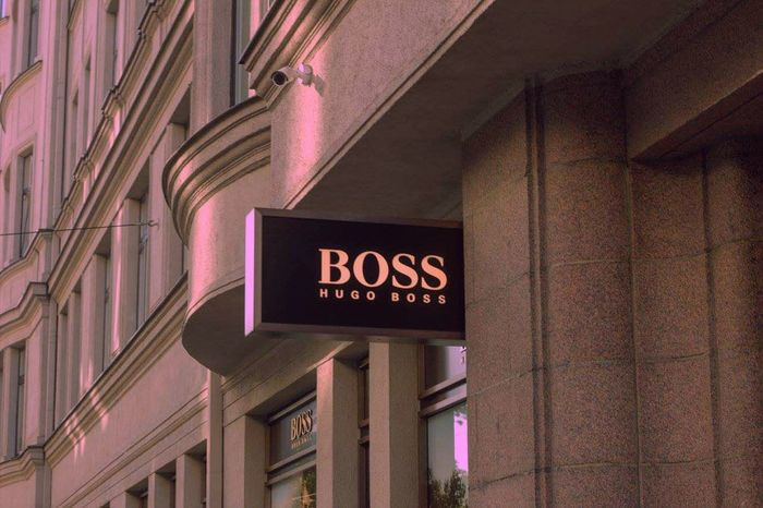 Hugoboss Red Communication Outdoors No People Text Built Structure Neon Building Exterior Day Architecture