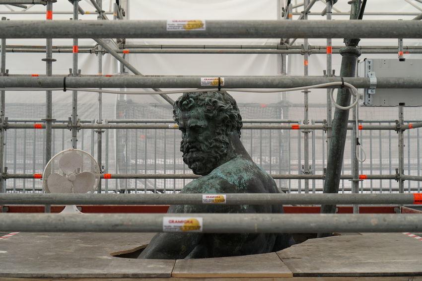 Bologna Bologna, Italy Neptune Neptune Fountain Nettuno Nettunobologna Restauration Restaurationwork Statue