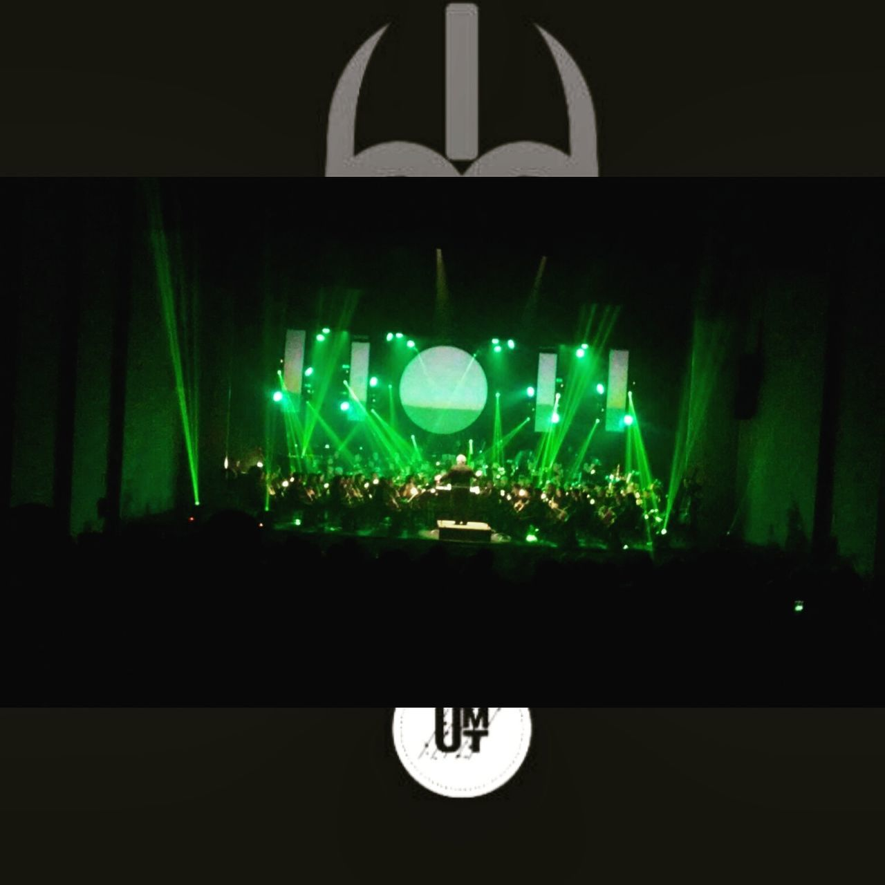 illuminated, lighting equipment, night, green color, arts culture and entertainment, stage light, real people, indoors
