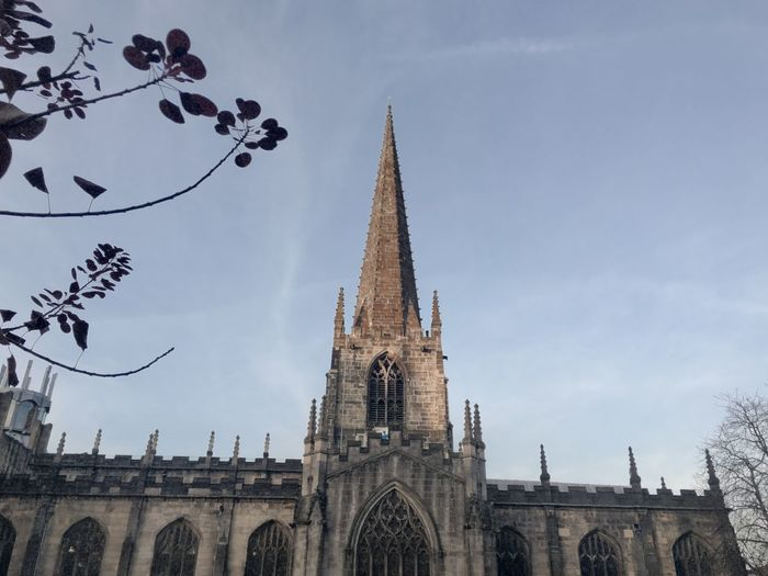 Architecture Business Finance And Industry Cathedral Church City Cityscape Cultures Day Fame No People Outdoors Place Of Worship Religion Sheffield Sky Tower Travel Travel Destinations Tree Vacations