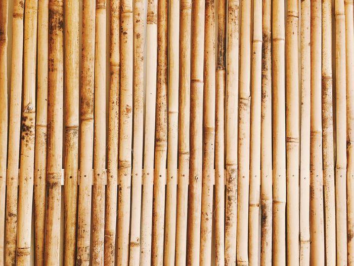 Full frame shot of bamboo wall background