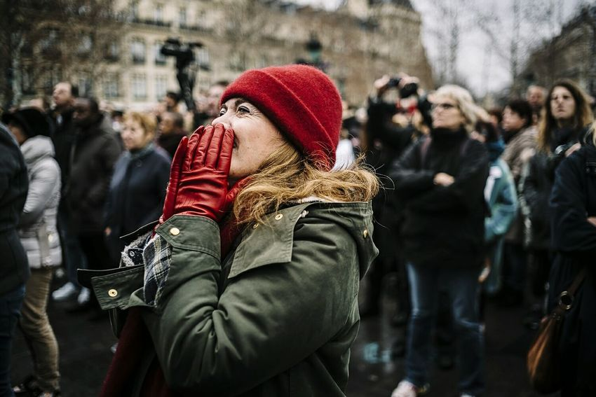 Commemorative Ceremony for the victims of Charlie Hebdo and Paris Attacks. Paris Street Photography Documentary Photography Jesuischarlie Jesuisahmed EyeEm Best Shots Eyeem France EyeEm Gallery This Week On Eyeem Leica Summicron 35