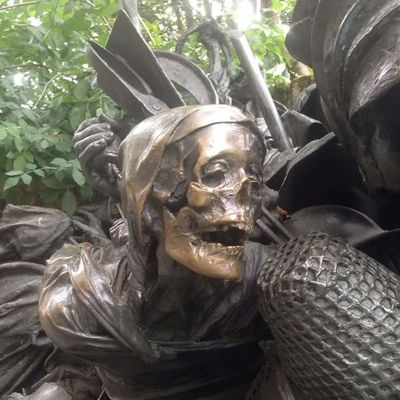 Skeleton Art And Craft Close-up Day Germany Halloween Human Representation No People Outdoors Sculpture Skull Statue