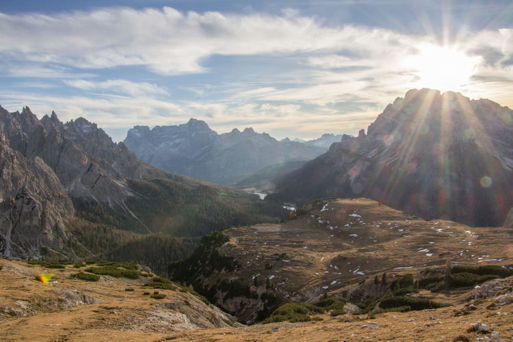 Beautiful National Park Beauty In Nature Day Dolomiti Dreizinnen Formation Of Nature Landscape Mountain Nationalgeographic Nature No People Outdoors Scenics Sky Sunlight
