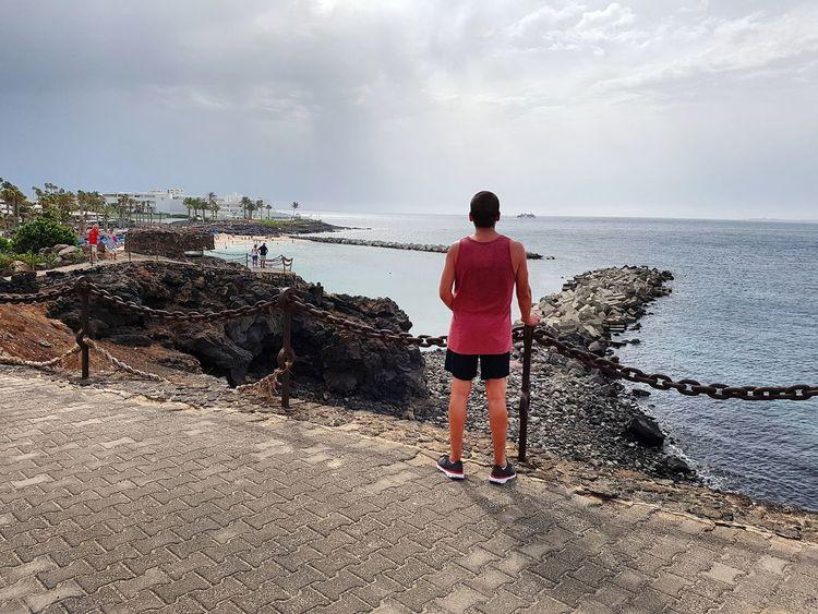 Playa Blanca Lanzarote Island Lanzarote People Beauty In Nature Tranquility Scenics Travel Destinations Lanzarote Paradise Sea Horizon Over Water Me Me :)  The Week On EyeEm