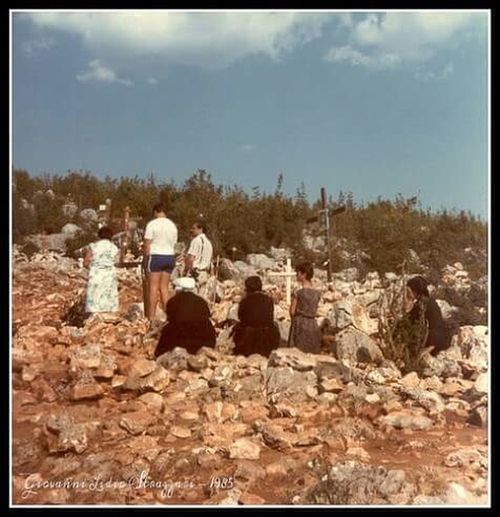 Medjugorje Collina delle apparizioni Podbrdo Outdoors Scenics Photography Colour Photography History Bosnia_Herzegovina Anni80