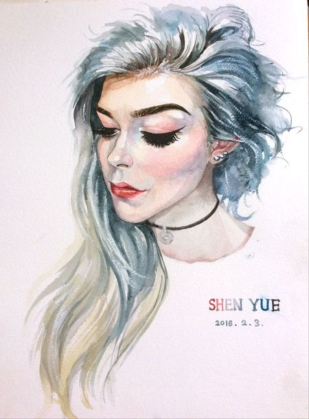 Water Colour Drawing Beauty Looksgood 💋💋