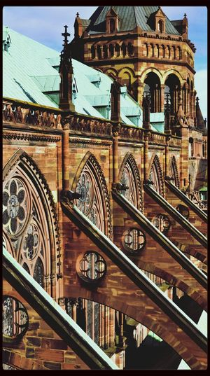 Strasbourg Cathedral Architecture Urban Geometry Geometric Shapes