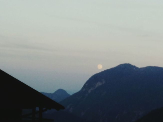 Moon Mountain View Mountains And Sky