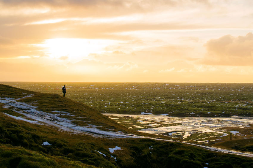Iceland Iceland Memories Iceland Landscape Scandinavia Architecture Beauty In Nature Cloud - Sky Great Landscape Horizon Iceland Trip Iceland_collection Icelandic Landscape Landscapes Nature No People Outdoors Ring Road Scenics Sky Sunset Tranquility Wallpaper