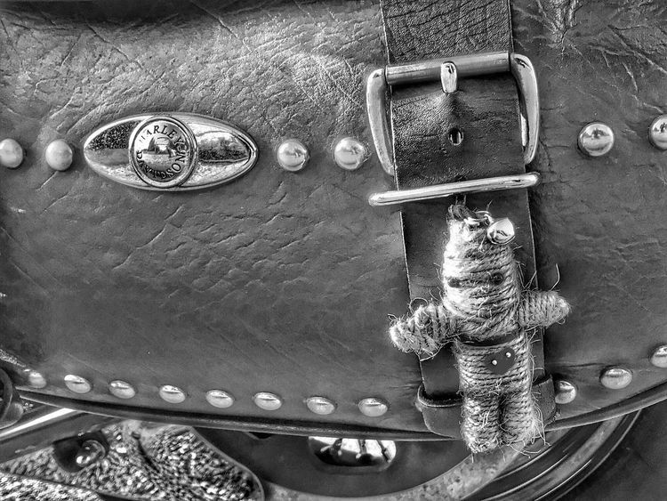 Voodoo Doll Voodoo Voodoo Doll Blackandwhite Black&white Blackandwhite Photography Black And White Hdr_Collection HDR Harleydavidson Saddlebag Harley Davidson HarleyDavidsonMotorcycles Harley-Davidson Retro Styled Close-up Motorcycle Eyemphotography Eye4photography  Eyemphotos IPhoneography Costa Del Sol