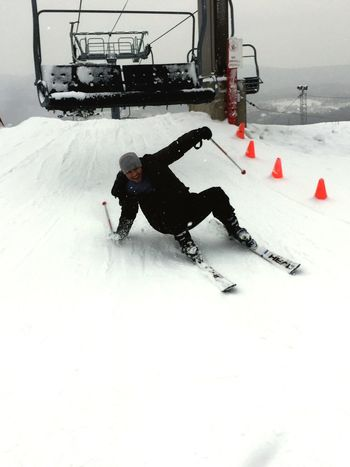 Winter Snow Cold Temperature Weather White Color Winter Sport Skiing Land Vehicle Frozen Transportation Full Length Mode Of Transport Sport Real People Ski Holiday Nature Leisure Activity Outdoors Day