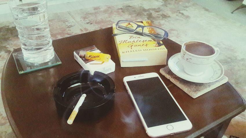 Mylife Cigarette  Book Atatürk Glass No People Wather Glasses Water Itsmylife Marlborolight IPhone7Plus Reading Reading A Book Turkishcoffee Turkishcoffe Turkishcoffee☕ Coffe