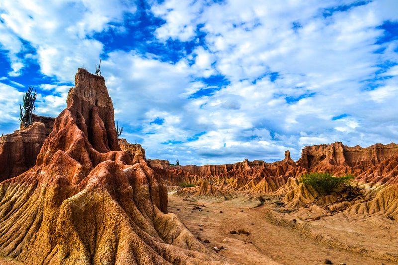 Desierto de la tatacoa. Arid Climate Beauty In Nature Cloud Cloud - Sky Day Desert Eroded Geology Landscape Low Angle View Natural Pattern Nature Non-urban Scene Outdoors Physical Geography Remote Rock Rock - Object Rock Formation Scenics Sky Tourism Tranquil Scene Tranquility Travel Destinations