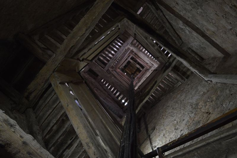 Solitary steps. Stairs Staircase Stairways Tower Old Buildings In Balance Light And Darkness  Geometry Geometric Shapes Alongwaytogo Steps Dark Wood Wooden Solitude Check This Out Architecture