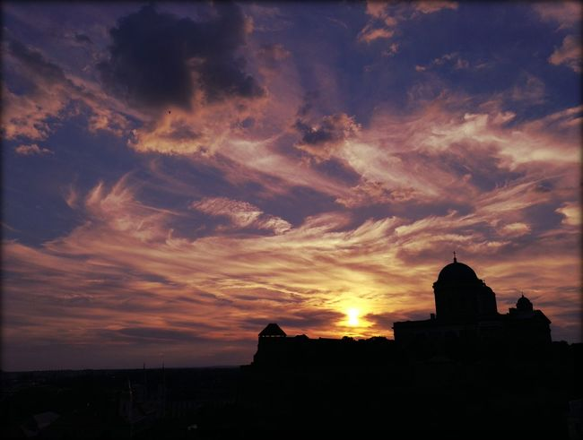 Sunset Architecture Travel Destinations Built Structure Outdoors No People Day Building Exterior Purple Clouds Sun Home Amazing Landscape Hungary I <3 You Hungary Cloud - Sky Majestic Nature Sky Silhouette Dramatic Sky Riverside Photography Esztergom Esztergomi Bazilika Esztergombasilica