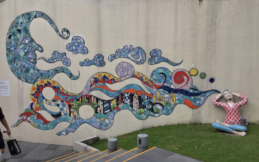 Art And Craft Creativity Representation Multi Colored Built Structure Wall - Building Feature Architecture No People Graffiti Pattern Day Decoration Outdoors Street Art Nature
