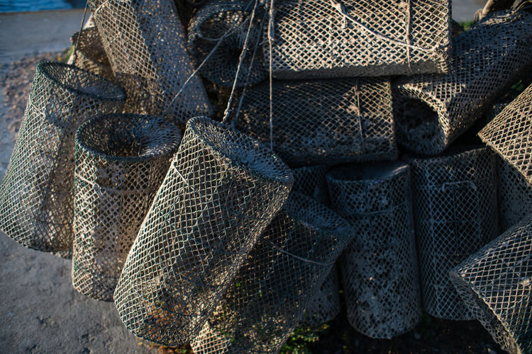 Fish traps drying on the sun